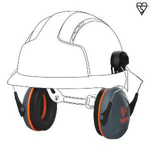 sonis helmet mounted ear defenders